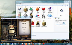Tinker running in Windows 7 Ultimate